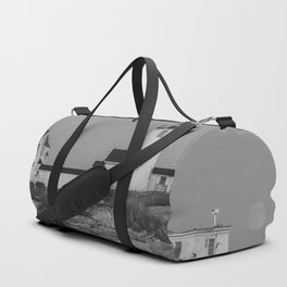 Eastern point Lighthouse Black and White aug2017 Duffle Bag