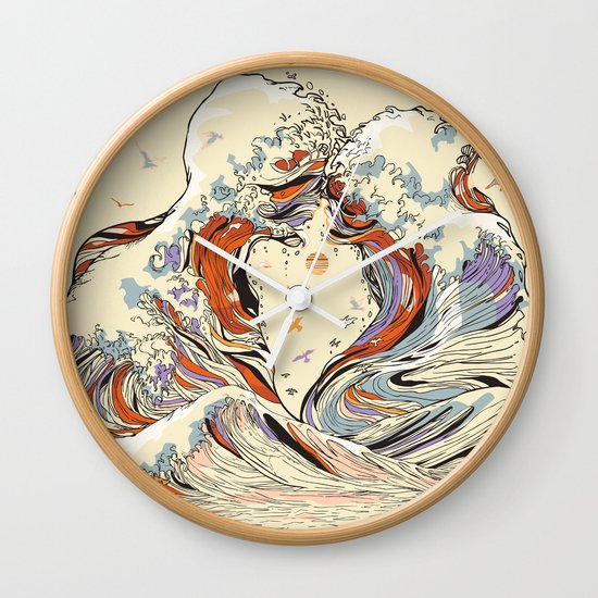 The Wave of Love Wall Clock