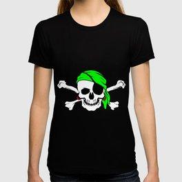 Halloween Pirate Skull Crossbones Bandana Eyepatch T-shirt