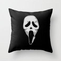 silent scream - charlie chaplin Throw Pillow