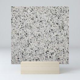 Black and white granite Mini Art Print