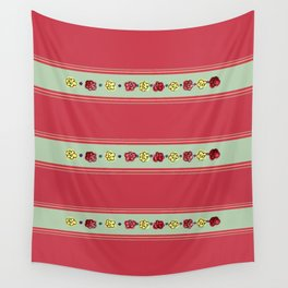 A Rosey Outlook Red Wall Tapestry