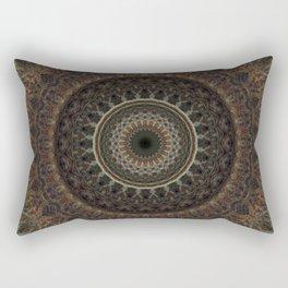 Mandala in brown tones Rectangular Pillow