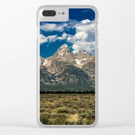 The Grand Tetons - Summer Mountains Clear iPhone Case