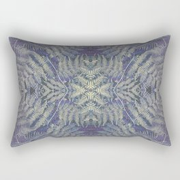 SYMMETRICAL PASTEL PURPLE BRACKEN FERN MANDALA Rectangular Pillow