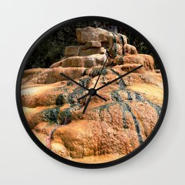 A Favorite Tourist Stop - Historic Pinkerton Mineral Hot Springs Wall Clock