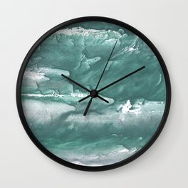 Marine color blurred wash drawing design Wall Clock