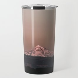 Pastel Peak - Mt. Hood over the Columbia Travel Mug