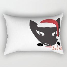 Bad Cat Santa Rectangular Pillow