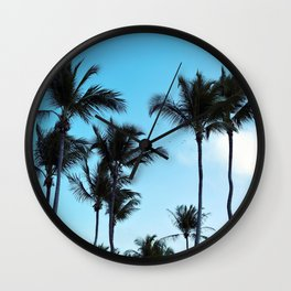 Coconut trees   Praia do Espelho   Brazil Wall Clock