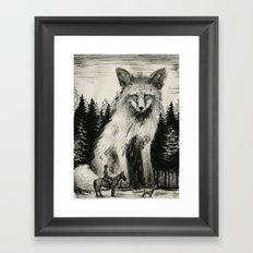 Fox Hunter Framed Art Print