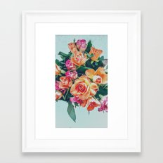 Retro roses Framed Art Print