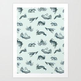 ephemera zoo Art Print