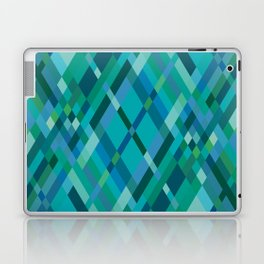 Blue Green Harlequin Pattern Laptop & iPad Skin