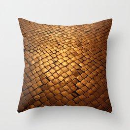 paving stone gold Throw Pillow