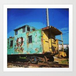 Posterized Train Art Print