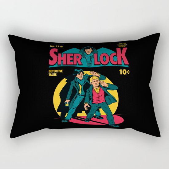 Sherlock Comic Rectangular Pillow