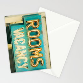 Rooms Neon Sign Stationery Cards