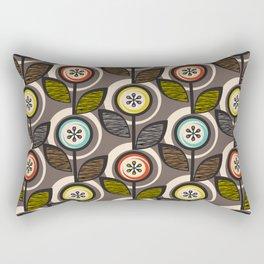 Footnote Flower (Gray) Rectangular Pillow