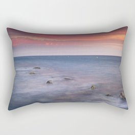 """Living...."" Love the sea.... Rectangular Pillow"