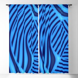 Edge in blue pattern Blackout Curtain