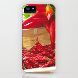 Hot chili pepper for kitchen design iPhone Case