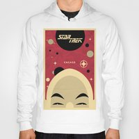 picard Hoodies featuring Star Trek TNG Jean Luc Picard Enterprise by jake