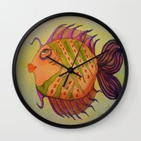 potter Wall Clocks featuring MRS. POTTER by Caribbean Critters Co.