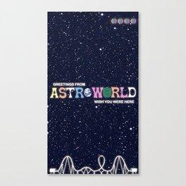 ASTROWORLD TRAVIS Canvas Print