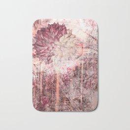 Mauve Grunge Flower Bath Mat