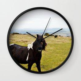 Wild Horse of Dartmoor Wall Clock