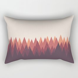 The Forest - Abstract Triangles Geometric Minimal Clean Rectangular Pillow