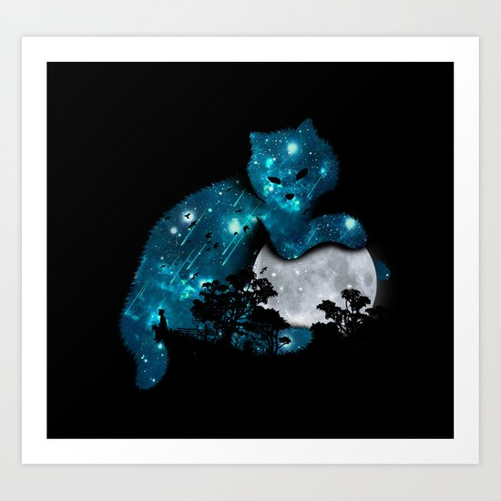 I can haz the moon Art Print