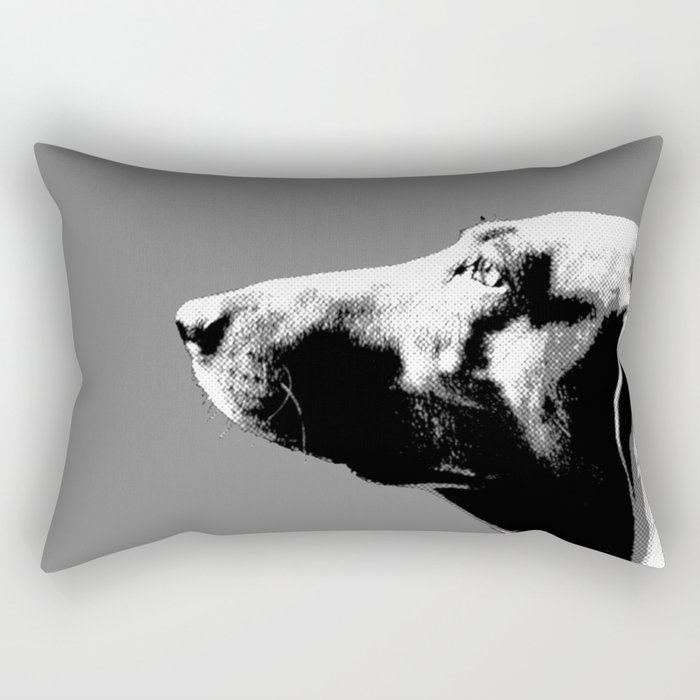 Italian bloodhound b/w Rectangular Pillow
