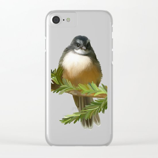 Fantail chick Clear iPhone Case