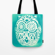 Day of the Dead Owl x-ray vision - Aqua Tote Bag