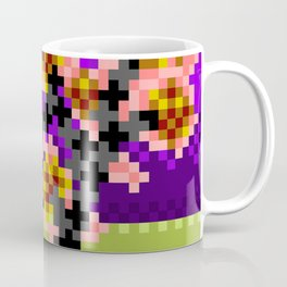 Fire Bonsai Pixel Art Coffee Mug