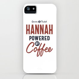 Hannah Powered by Coffee iPhone Case