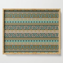 Meander Pattern - Greek Key Ornament #1 Serving Tray