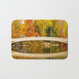Bow Bridge at Central Park Bath Mat