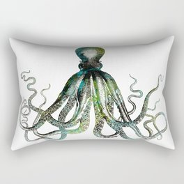 Octopus marine life watercolor art Rectangular Pillow