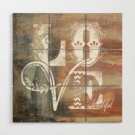 Love is beautiful Wood Wall Art