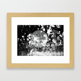 The best is yet to come b/w Framed Art Print
