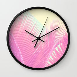 Pastel Blush Palm Wall Clock