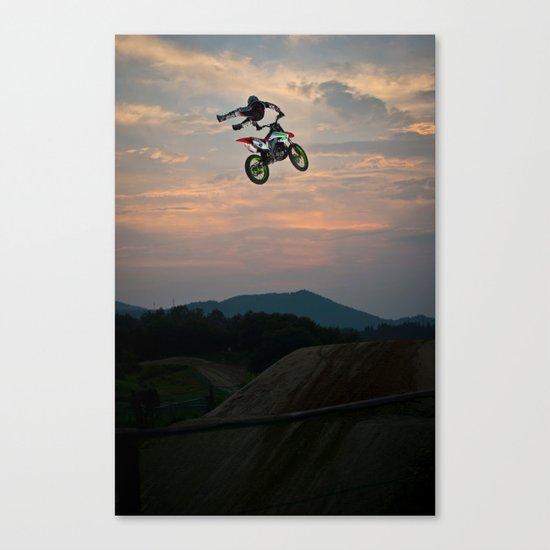 Yuuya Takano Flying at Sunset, FMX Japan Canvas Print