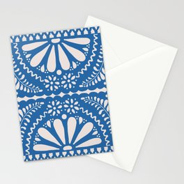 Fiesta de Flores Blue Stationery Cards