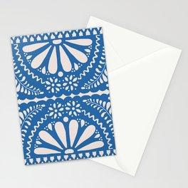 Fiesta de Flores Blue Stationery Cards