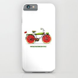 ORGANIC INVENTIONS SERIES: Vintage Watermelon Bicycle iPhone Case
