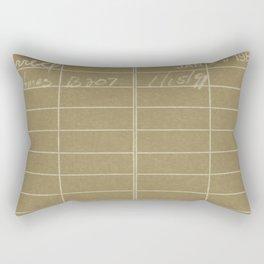 Library Card 797 Negative Brown Rectangular Pillow