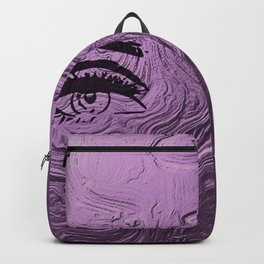 Super purple glam lashes Backpack